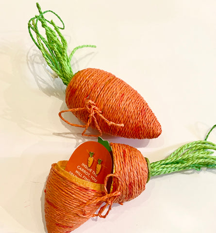 Carrot Stud Earrings in Jute Carrot Ornament