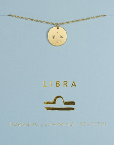 Zodiac Necklace Libra