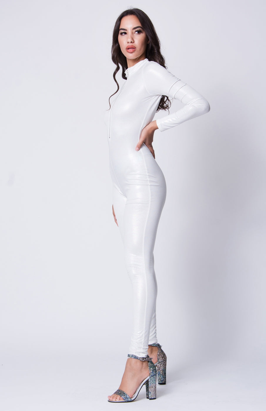 532910f58ec0 Skin Tight in White Jumpsuit – New Luxe Collection