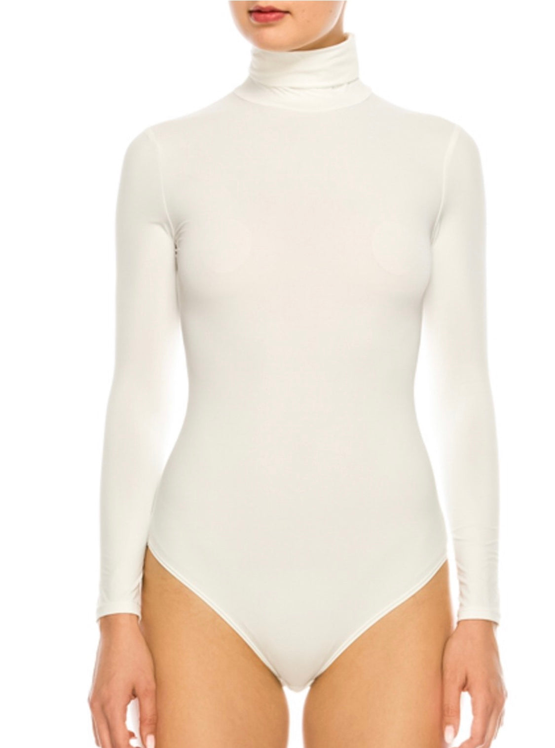 0ef437b5 Turtle Neck Bodysuit - White – New Luxe Collection