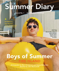 Summer Diary BOYS OF SUMMER 2020 Photobook .  On the Cover: Mark Sassu shot by Marc Christensen