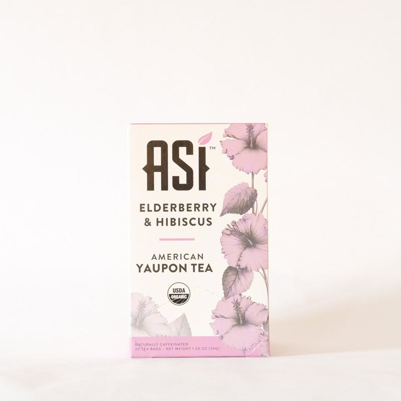 ASI Elderberry & Hibiscus Tea 20 bags- Yaupon Tea + Wellness Co.