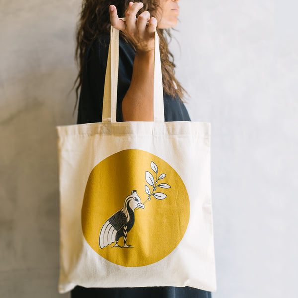 Bird Logo Tote Bag - Yaupon Tea + Wellness Co.