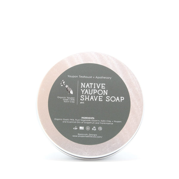 Native Yaupon Shave Soap 4oz - Yaupon Tea + Wellness Co.