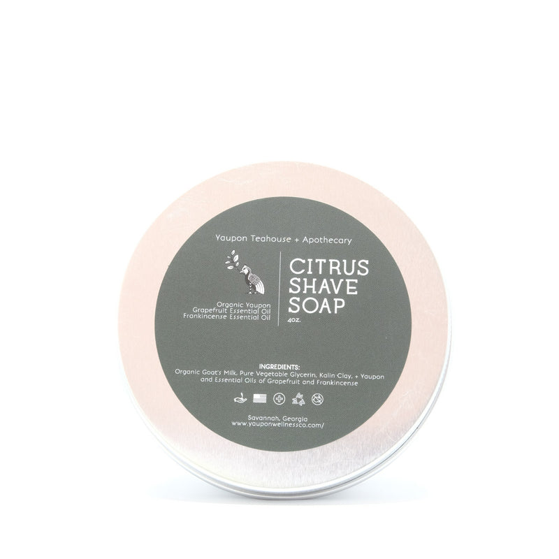 Citrus Shave Soap 4 oz - Yaupon Tea + Wellness Co.
