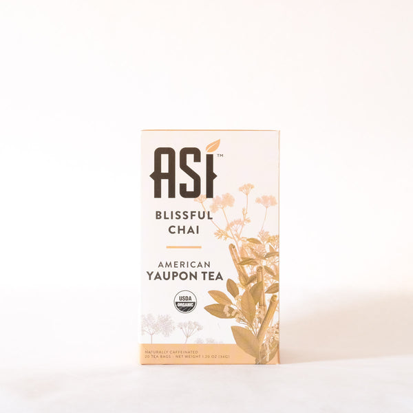 ASI Blissful Chai Tea 20 bags- Yaupon Tea + Wellness Co.