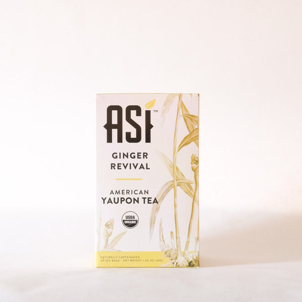 ASI Ginger Revival Tea 20 bags- Yaupon Tea + Wellness Co.