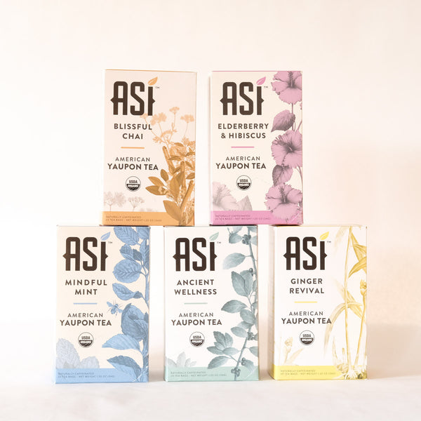 ASI Tea 5-pack 20 bags each - Yaupon Tea + Wellness Co.