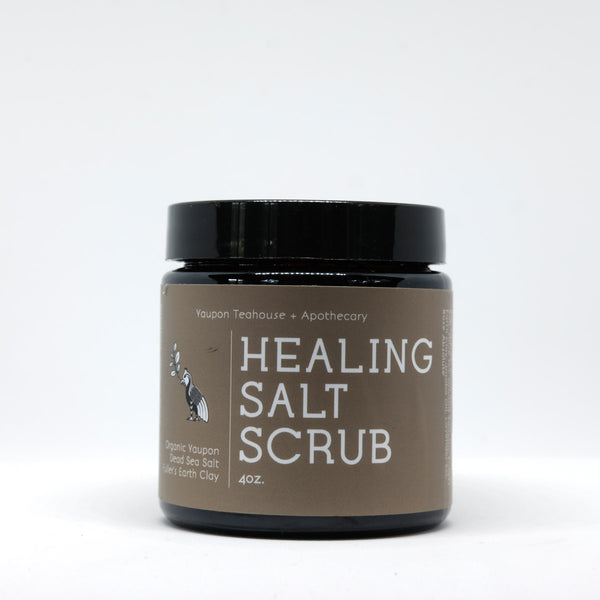 Healing Salt Scrub 4oz - Yaupon Tea + Wellness Co.