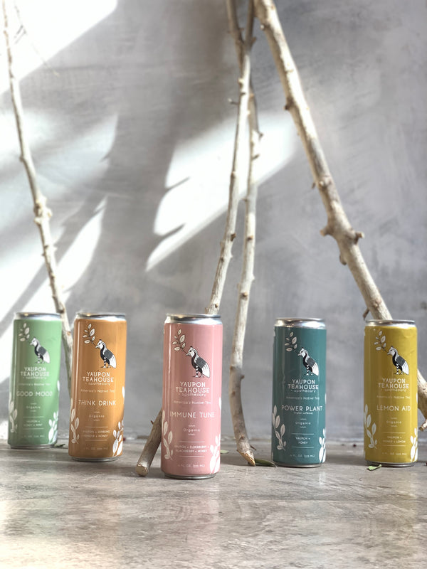 Ready-To-Drink Canned Organic Yaupon Tea