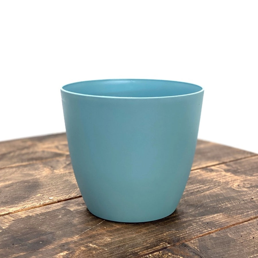 Plastic Pot Light Blue 18cm