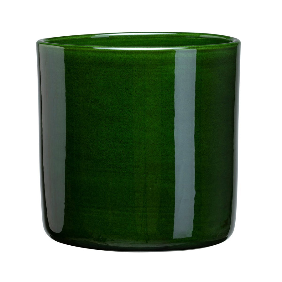 Bergs Potter Romeo Glazed Green Cylinder Pot 15cm