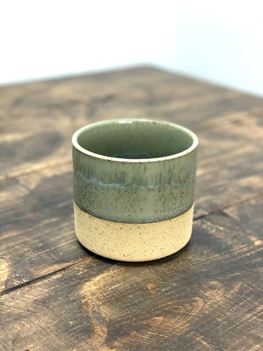 Duo Textured Ceramic Pot Green 11cm
