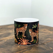 Black Cheetah Ceramic Pot 13cm