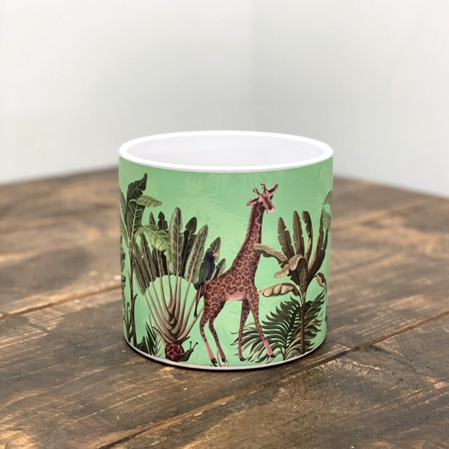 Green Giraffe Ceramic Pot 13cm