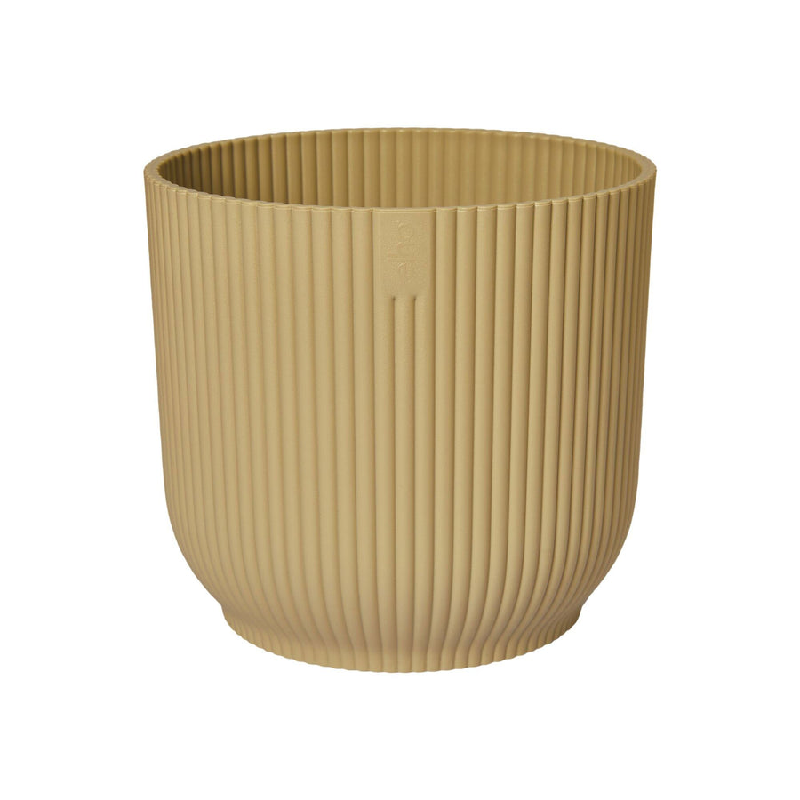 Elho Vibes Fold Round Pot Butter Yellow 14cm