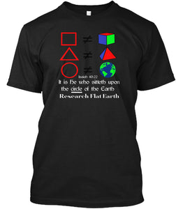 Circle Not A Sphere Flat Earth T-shirt - femerch