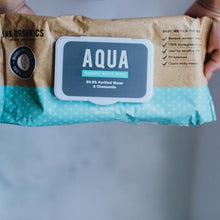 Load image into Gallery viewer, Jak Organics - Aqua Wipes - Purified Water & Chamomile