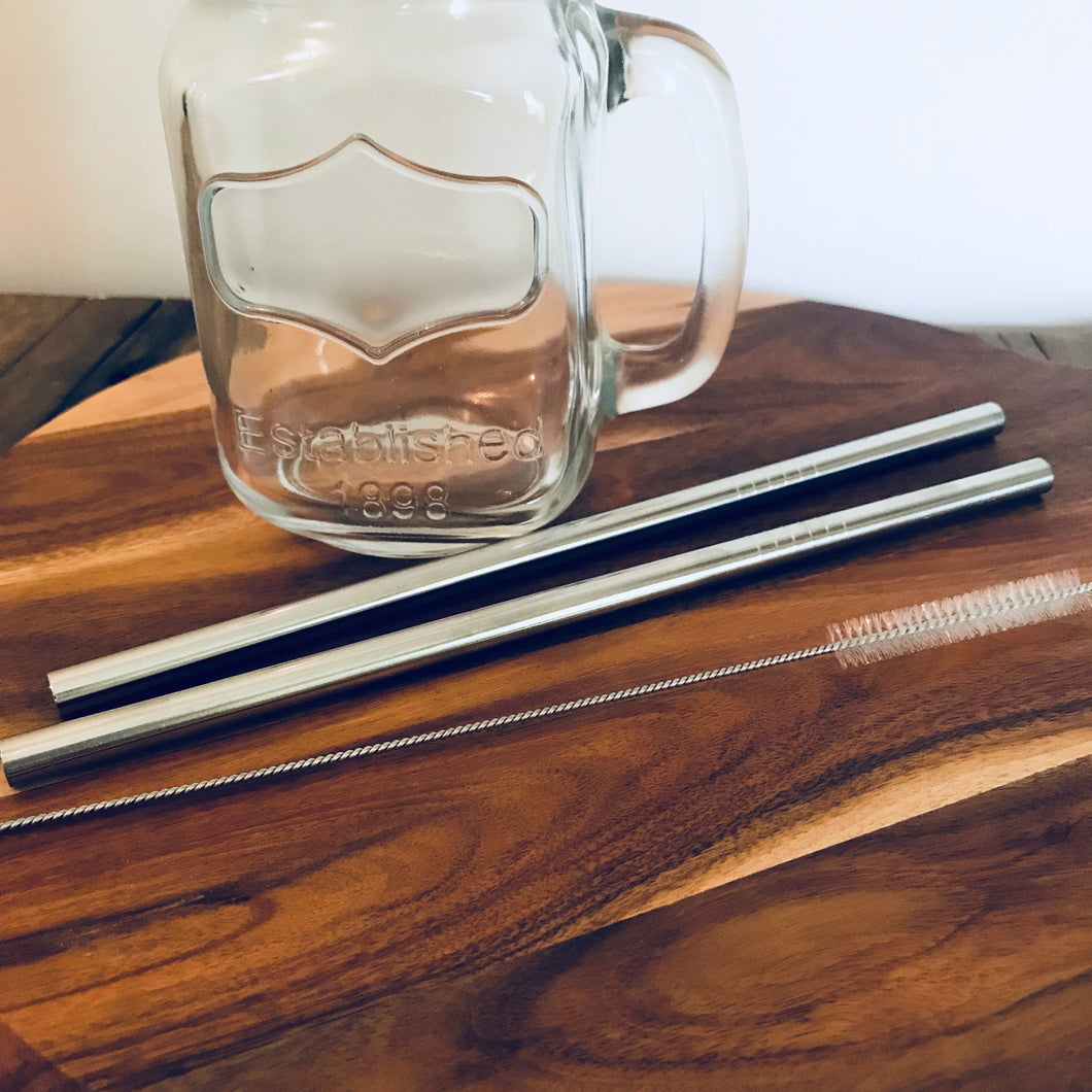 Ever Eco - Stainless Steel Straws - 2 Pack