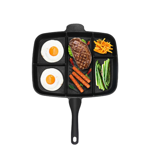 Non-Stick Fryer Pan 5 in 1 Divided Fry Pan