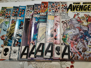 The Avengers #250-259: Ungraded Lot