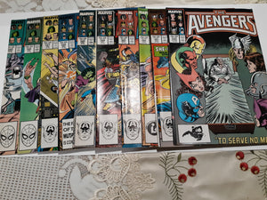 The Avengers 280-289 Ungraded Lot