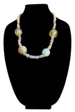 Load image into Gallery viewer, Venetian Moon Glass Bead And Dutch Dogon Glass Bead Necklace