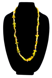Mustard, Yellow, Curved, Matched, Mixed Bead Strand