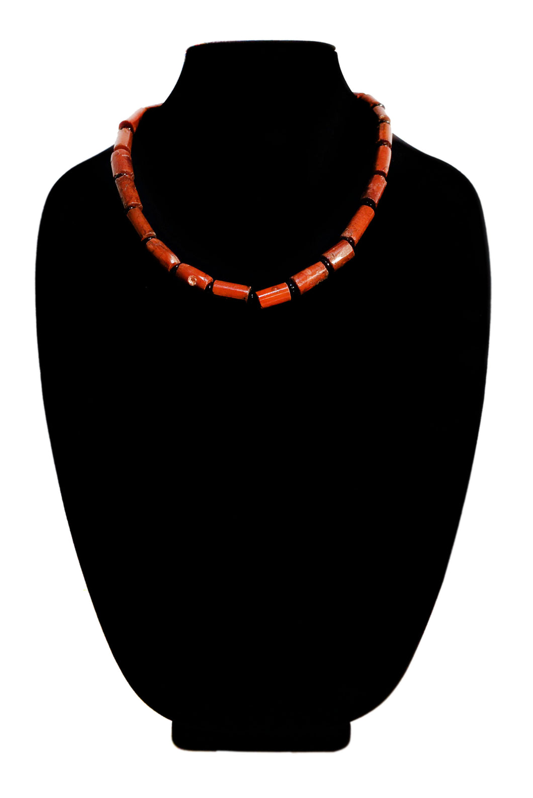 Compressed Volcanic Ash Bead Necklace