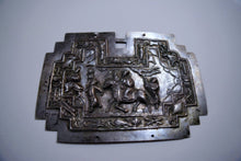 Load image into Gallery viewer, Breastplate: Late Qing Amalgam Silver Repousse Pendant