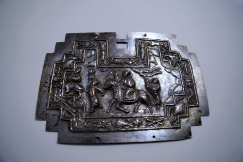 Breastplate: Late Qing Amalgam Silver Repousse Pendant