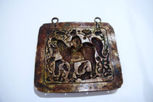 Load image into Gallery viewer, Scholar Depicted Riding Kirin On Late Qing Repousse Amalgam Silver Breastplate