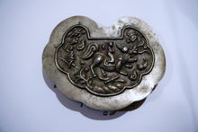 Load image into Gallery viewer, Female Hero Riding Kirin Repousse Amalgam Silver Pendant