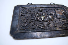 Load image into Gallery viewer, Smoking Hero Riding Kirin Repousse Silver Breastplate
