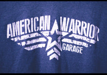 Load image into Gallery viewer, American Warrior Garage Basic T heather grey