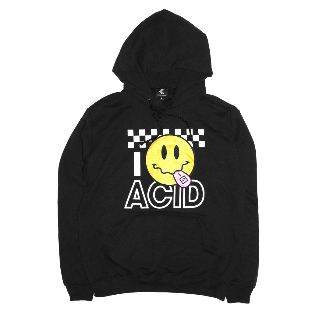 Acid Smiley Hoodie - Black