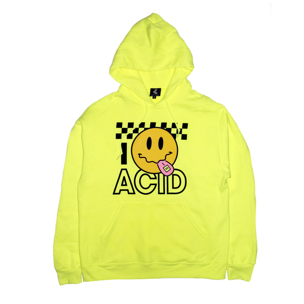 Acid Smiley Hoodie - Lime