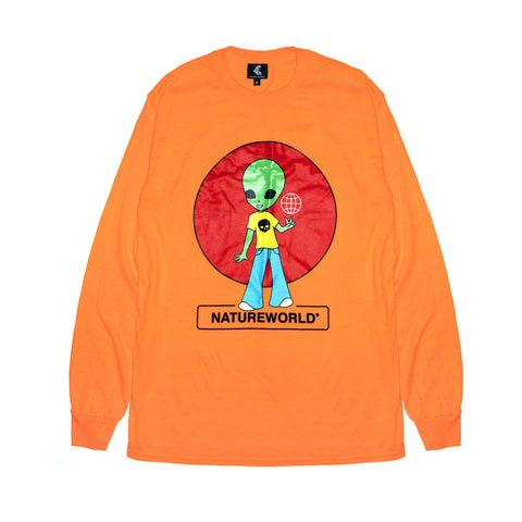 Alien Longsleeve Tee - Orange