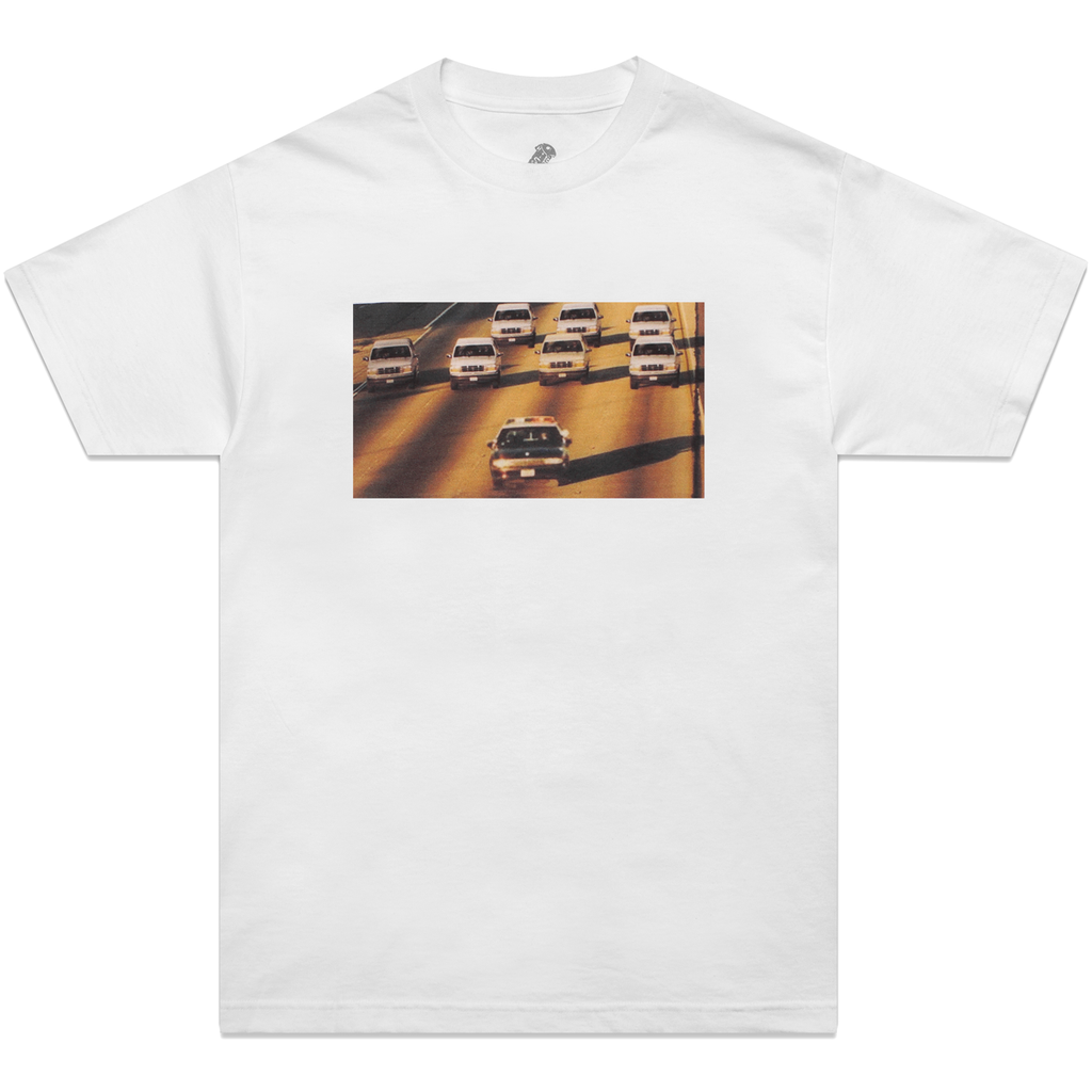 White 'Cop Chase' T-Shirt