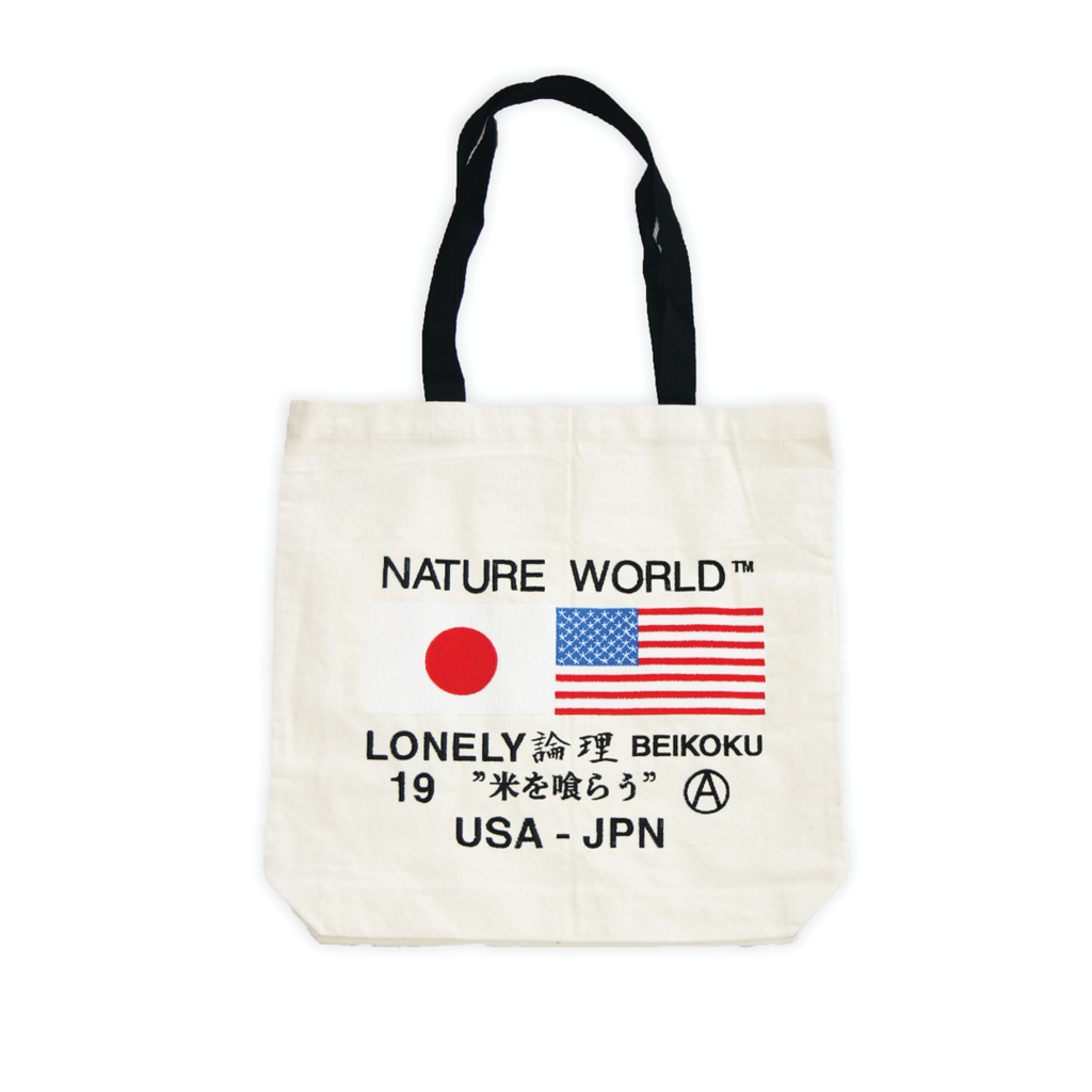 Flag Embroidery Tote