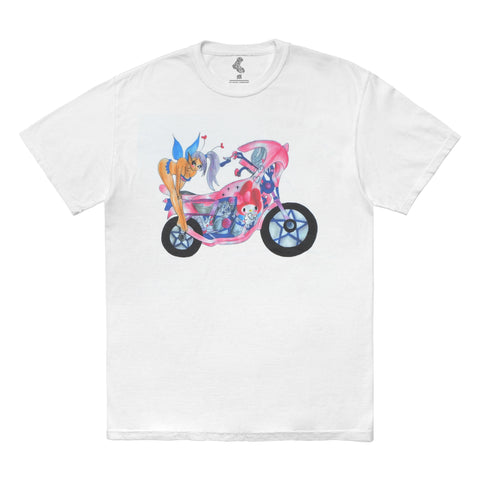 Motorcycle Tee - White