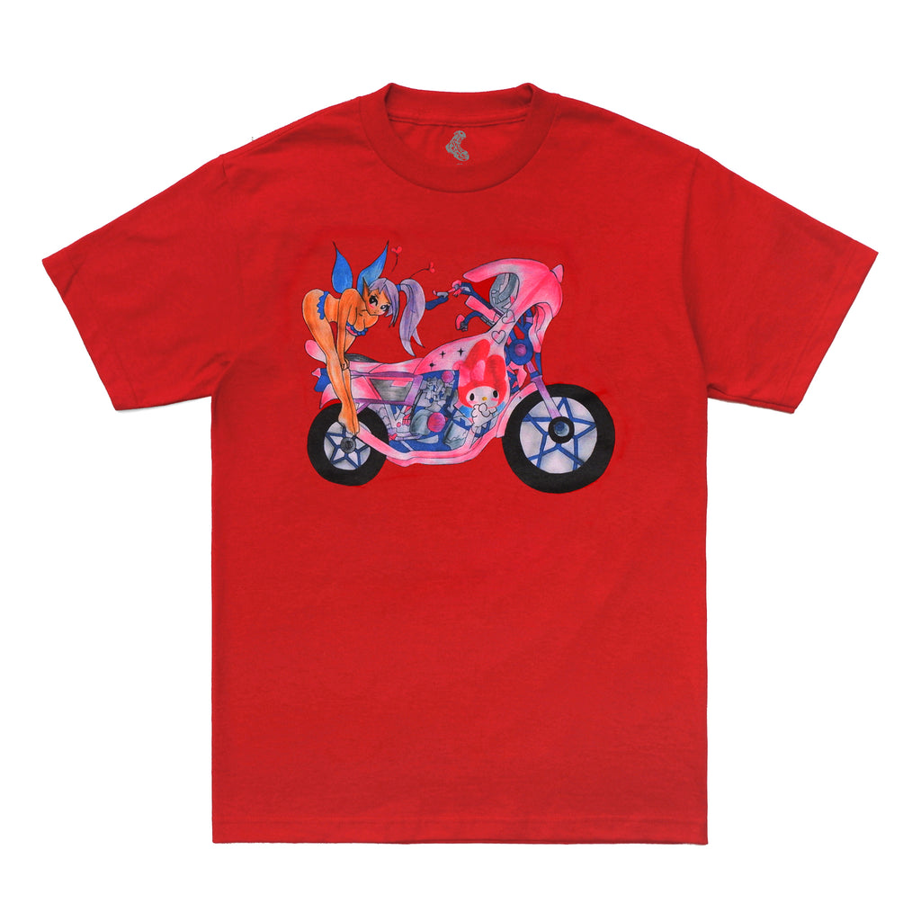 Motorcycle Tee - Red