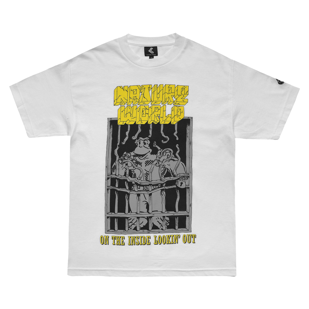 "White ""Inside Lookin Out"" Tee"