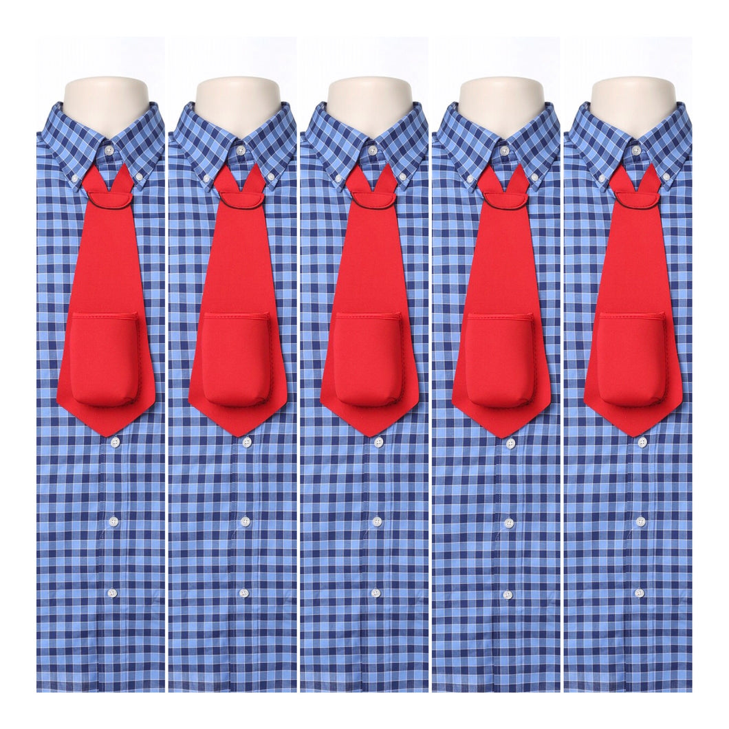 RED PARTY PACK - Drink Koozie Beer Tie Red (Five Beer Ties) - Beer Tie