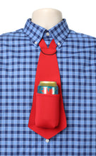 Load image into Gallery viewer, Drink Koozie Beer Tie Red - Beer Tie
