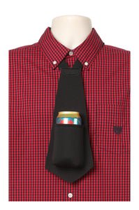 BLACK PARTY PACK - Drink Koozie Beer Tie Black (Five Beer Ties) - Beer Tie