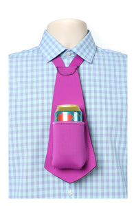 PURPLE PARTY PACK - Drink Koozie Beer Tie Purple (Five Beer Ties) - Beer Tie