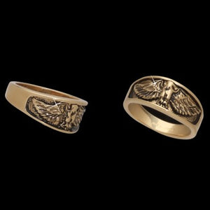 Antiqued Eagle Ring