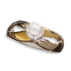 Loving Embrace Quartz Crystal Diamond Ladies' Ring