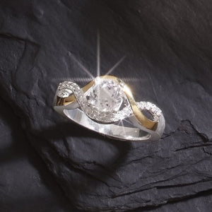 Genuine Quartz Crystal Diamond Ladies' Ring